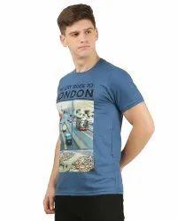 Mens Printed Round Neck T Shirt