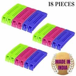 Multicolor High Food Clip, Long, Packaging Type: Plastic Packet