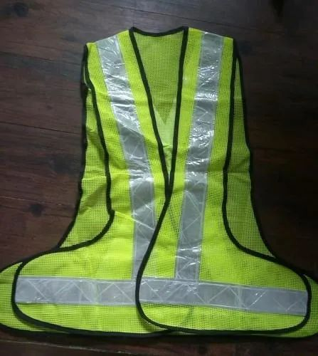 Green Reflective Jacket L&T STYLE, for Traffic Control