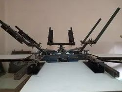 4 Color 4 Station Frame Adjustable T-Shirt Printing Machine