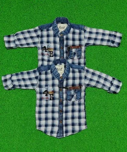 Indigo Checks 4-ever Kids Wear