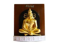 Gold Leafing Wooden Hanumanji Frame Statue
