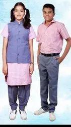 Cotton and Polyester Boys Readymade School Uniforms