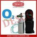 Desco Oxygen Cylinder Aluminium 1 Ltrs, For Hospital