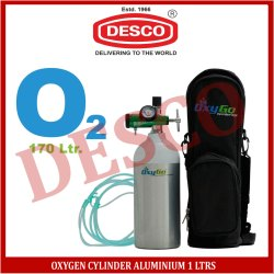 DESCO Oxygen Cylinder Aluminium 1 Ltrs, For Hospital
