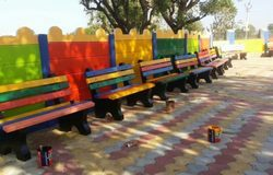 Multicolor RCC Garden Bench