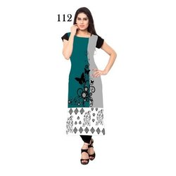Digital Printed Half Sleeve Crepe Kurti