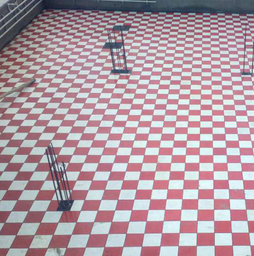 Red And White Floor Tile फ ल र ट इल