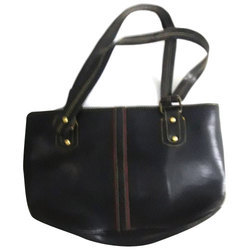 20ef57e2dbfe Black Brown Plain Ladies Leather Fancy Bag
