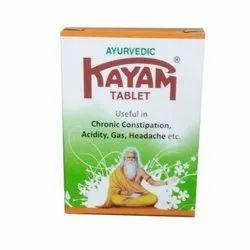 Kayam Ayurvedic Tablet, Packaging Type: Bottle