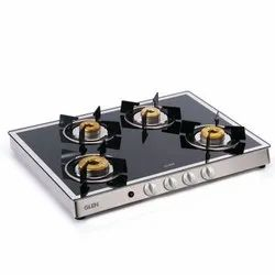 Glen 1048 GT 4 Forged Burners Auto Ignition Mirror Cooktop