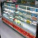 Bend Glass Food Display Counter