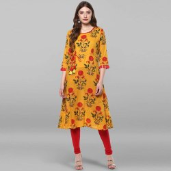 Mustard Pure Cotton Kurta(JNE2177)