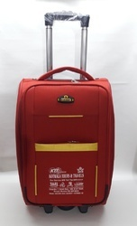 Red Matty Trolley Bag, For Luggage, Size: 20 Inch (h)