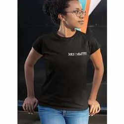 Plain Cotton Ladies Round Neck T Shirts