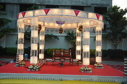 Crystal and Light Chori Mandap