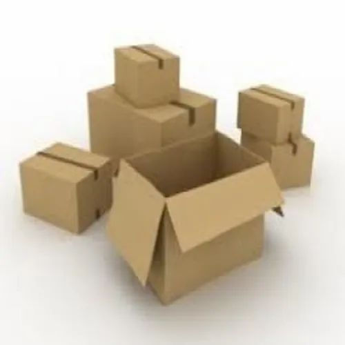 Rectangular Brown Plain Corrugated Shipping Boxes