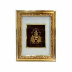 Golden And White Diwali Pooja Frame