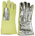 Aluminised Kevlar and Leather Hand Gloves