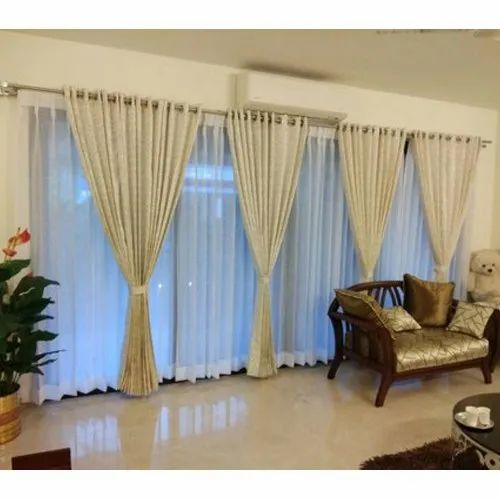 Printed Living Room Curtains Rs 24600, Living Room Curtain
