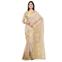 Cotton Silk Saree With Fancy Pattern