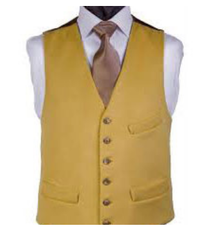 Yellow Wedding And Party Men Waistcoat