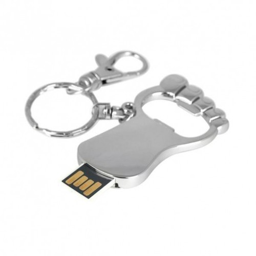 39e799c2986 Foot Shape Metal USB Pendrive