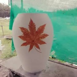 Painted Outdoor Flower Pot