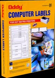 Oddy Dot Matrix Paper Labels