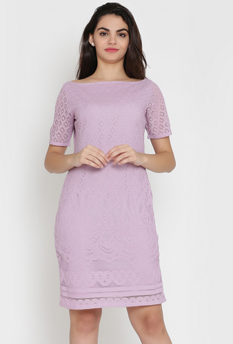 0b3c3c28d90 Lilac Lace Shift Dress