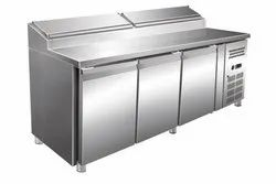 3 Door  Pizza Makeline Counter for Commercial Use