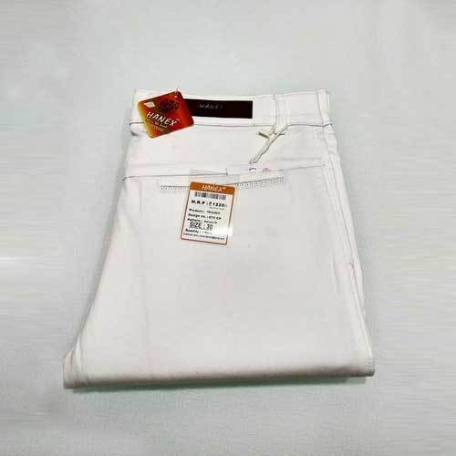 Hanex White Cotton Trousers