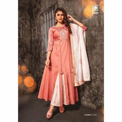 Zumkha By Kiana Gown With Dupatta