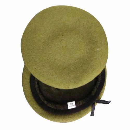 e00604dc Khaki Beret Cap, Wool Beret Cap, ऊनी बैरेट टोपी ...