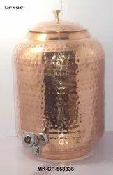 Wandcraft Exports Copper Water Dispenser Matka Tank