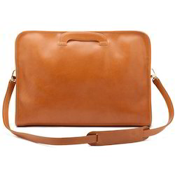 Zipper Leather Portfolio Bags