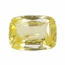 SI Clarity Cushion-Cut Natural Ceylon Yellow Sapphire