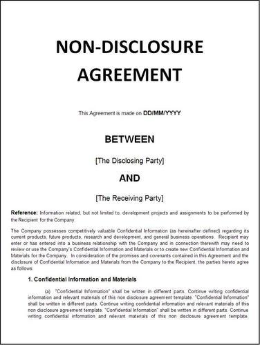 Non Disclosure Agreement In East Of Kailash New Delhi Id