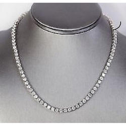 Ladies Modern Silver Necklace