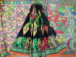 Kalamkari Silk Party Wear Sarees, Length: 6 m