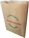 Printed Gusetted Kraft Paper Grocery Bags