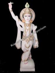 Marble Chakradhari Vishnu Statue