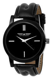 Mens Black Strap Analog Watches