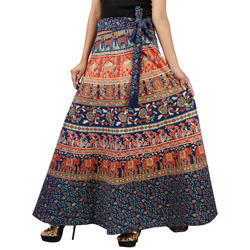 Colorful Elephant Wrap Skirt