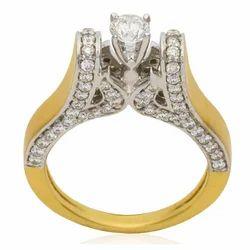 Women's Yellow Gold Diamond Ring