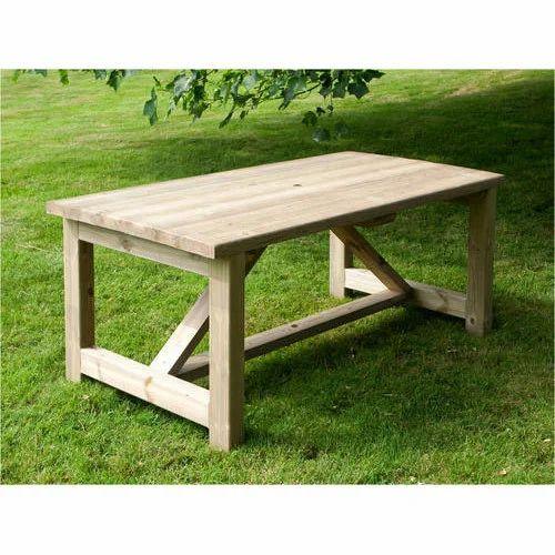 Swell Garden Wooden Table Inzonedesignstudio Interior Chair Design Inzonedesignstudiocom