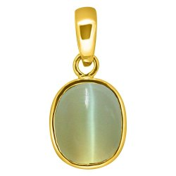 Cats Eye Locket Pachdhatu Gemstone