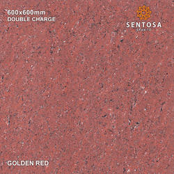 Golden Red Double Charge Vitrified Tiles