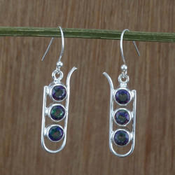 Silver Jewelry Doctor Mystic Gemstone 925 Sterling Silver Earring
