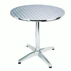 White Acrylic Alfa Round Table, For Office